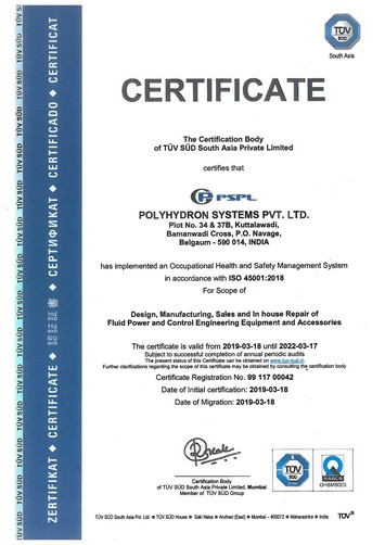 PSPL - OHSAS Certificate